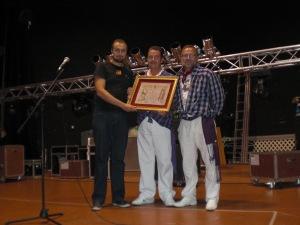 Alagon 2011: entrega pergamino Peña Sajeño-Alagonesa