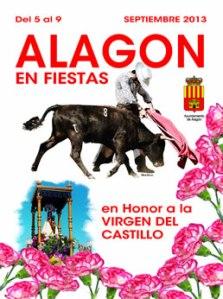"""Cartel """"Fiestas en honor a la Virgen de Castillo"""", Alagón 2013"""