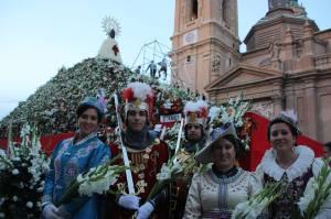 Capitanes Alagoneses en la Ofrenda del Pilar 2013 - Fotografía de Eduardo Gómez