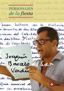 Libro dedicado a Joaquín Barceló Verdú. Colección Personajes de la Fiesta UNDEF