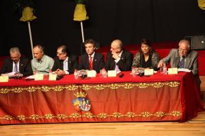 "Mesa de Presentación del libro ""Joaquín Barceló Verdú"". Fotografía de Eduardo Gómez."