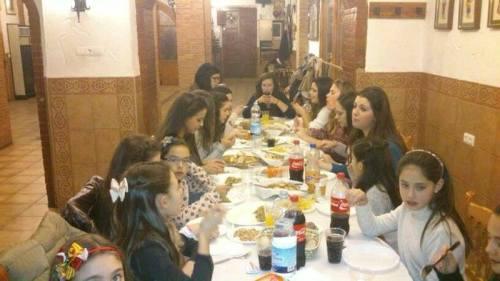 Gachamiga para las Reinas y Damas de honor 2014 en la Casa de Alagón