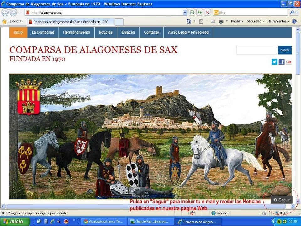 Suscripción a las noticias de la Web www.alagoneses.es