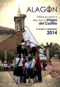"""Cartel """"Fiestas en honor a la Virgen del Castillo"""", Alagón 2014."""