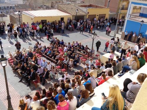 En la Plaza de San Blas. Actos 775 aniversario muerte de Don Artal de Alagón. Sax, 2 de noviembre de 2014.