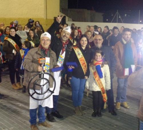 """Segundo Premio en el XLI Concurso de Gachamiga """"Mayordomía de San Blas"""": José Alonso López y Pedro Sánchez (Comparsa de Alagoneses)"""