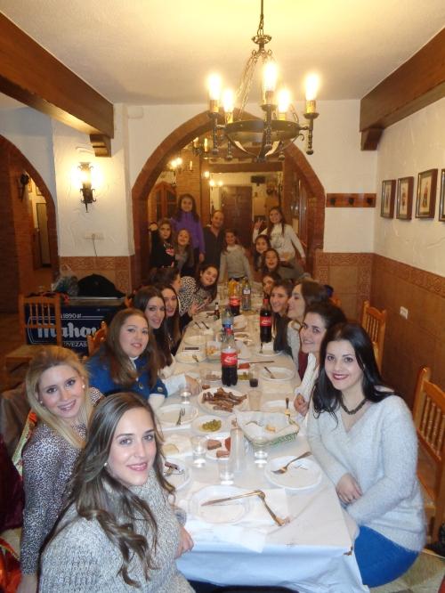 Gachamiga para Reinas y Damas de honor 2015 en la Casa de Alagón