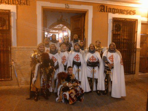 Participantes en el desfile especial del día 4 de febrero, con motivo del 775 aniversario de la Reconquista de Sax.
