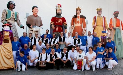 Comparsa de Gigantes y Cabezudos de Alagón, 23 abril 2015. Fotografía de Mª Ángeles Modrego Higueras