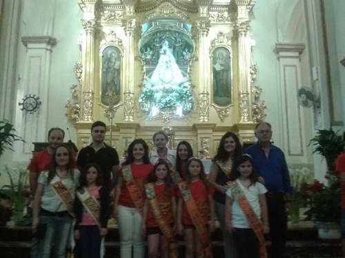 II Convivencia Almogávares, Caballeros de Cardona y Alagoneses. 10 de mayo de 2015. Junto a la Virgen de las Virtudes.
