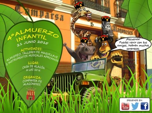 IV Convivencia y Almuerzo Infantil · Comparsa de Alagoneses. El domingo 21 de junio de 2015 en la Casa de Alagón.