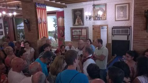 XIX Almuerzo de Hermandad con la Peña Sajeño Alagonesa de Sax, y bendición de Banderín Infantil. Domingo 5 de julio de 2015.