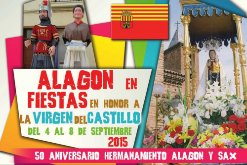 Cartel Fiestas de Alagon  en honor a la Virgen del Castillo 2015