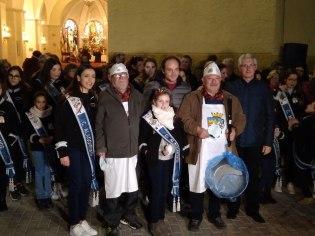 Tercer premio en el XLIV Concurso de Gachamigas de la Mayordomía de San Blas: Manuel Gutiérrez y Juan Ortín, Comparsa de Alagoneses.
