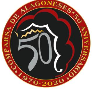 Logotipo 50 aniversario Comparsa de Alagoneses · 1970-2020
